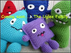 Baby Uglee  Original pattern by Caroline Chrisco  A little toy who's so ugly, you can't help but see how cute it is... make one in every co...