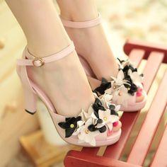 pequeñas de verano de la boda zapatos de dama de honor de color rosa del remache flor de la rota del dedo del