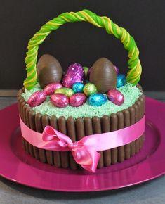 Easter Chocolate Eggs Cake Basket