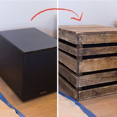 Latest Trends in Home Decorating 2014: DIY Wood Side Table / Subwoofer Enclosure