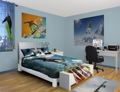 Snowboard Fluff Bedroom at http://www.visionbedding.com/Snowboard-Fluff_Bedroom-rm-12374