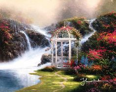 Thomas Kinkade - Hidden Arbor  1994