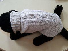 Manteau à torsade pour chien tricoté main : Animaux par tricot-et-crochet-de-binouche