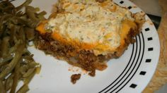 Ground Beef Cheese and Bisquick Layered Casserole