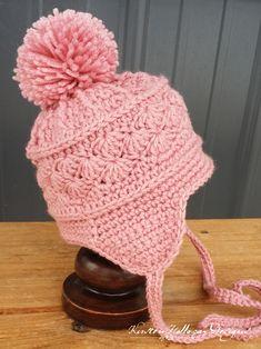 La Vie en Rose Ski Hat, an easy free crochet pattern in 6 sizes for baby to adult!
