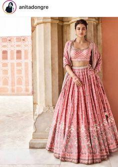 Dreamy Pink Lehenga Designs We Just Can't Stop Swooning Over Pink Lehenga, Bridal Lehenga Choli, Indian Lehenga, Indian Gowns, Indian Attire, Indian Ethnic Wear, Sabhyasachi Lehenga, Lehenga Wedding Bridal, Sarees