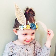 Woodland Bunny Flower Crown Photo Prop Baby by masonandharlow