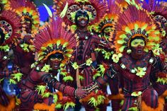 Revelers of the Salgueiro samba school perform during the first day of carnival parade at the Sambodrome in Rio de Janeiro, Brazil on February 16, 2015