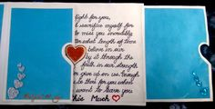 Handmade card. love quote, beautiful card for valentines day