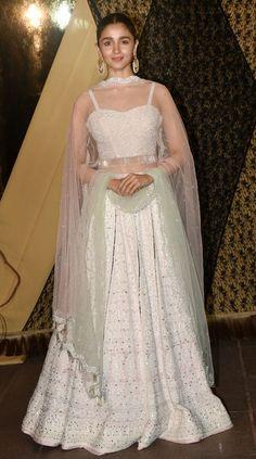 Alia Bhatt White Chikankari Lehenga Is Best For Wedding - Source by shreyanshin. - Alia Bhatt White Chikankari Lehenga Is Best For Wedding – Source by shreyanshin – Source by - Desi Wedding Dresses, Party Wear Indian Dresses, Indian Gowns Dresses, Indian Bridal Outfits, Indian Bridal Fashion, Dress Indian Style, Indian Fashion Dresses, Indian Designer Outfits, Wedding Wear