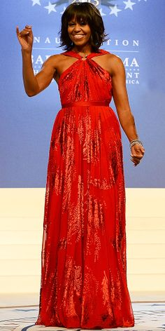 Look of the Day: January 22, 2013 - Michelle Obama : InStyle.com...  Love the hair cut on her.