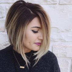 Women haircuts for thin hair bangs women hair color trends popular haircuts,trendy short haircuts for black hair popular hairstyles in the bob hairstyles blonde asymmetrical haircuts. Edgy Haircuts, Short Bob Hairstyles, Pretty Hairstyles, Hairstyle Ideas, Hairstyles 2018, Concave Bob Hairstyles, Asymmetrical Hairstyles, Wedding Hairstyles, Short Haircuts For Women