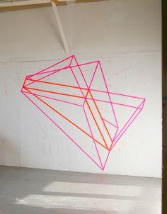 3D trompe-l'œil Art made with Tape ! #Voilá! On Pinterest