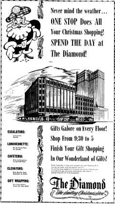 Oh, the memories! The Diamond Department Store in Charleston, WV.