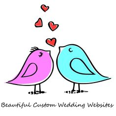 Wedding Website - Let us create a beautiful Wedding website for You ~ The best way to share all the details about your Wedding ~ Invitations, RSVP, Accommodation, and more. Colored Paper, Love Pictures, Wedding Website, Love Birds, Easy Drawings, Painted Rocks, Save The Date, Embroidery Patterns, Coloring Pages