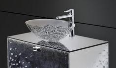 Modern and Contemporary Bathroom Vessel Sinks, Faucets, and Vanity Luxury Bathroom Vanities, Modern Bathroom Faucets, Bathroom Shop, Dream Bathrooms, Stone Bathroom Sink, Natural Stone Bathroom, Contemporary Kitchen Fixtures, Italian Bathroom, Glass Vessel Sinks