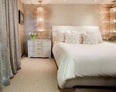 Romantic bedroom with soft lighting