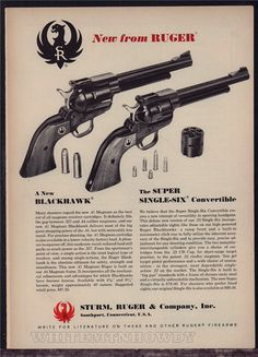 1965 RUGER Blackhawk, Super Single-Six Revolver AD : Other Collectibles at GunBroker.com