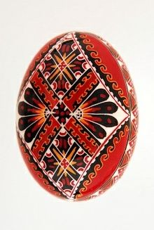 "Easter egg in batik technique red pysanky A note on pronunciation, despite what you may have heard on television, a supplier of pysanky tools or from an instructor in a local class, ""Pysanka"" is correctly pronounced ""Pih-sahn-kah""  with the plural ""Pih-sahn-kih"". All with short vowels.  The term ""pysanky"" is not, never was, nor will it ever be correctly pronounced ""pie-SAN-kee or pizz-an-ki"""