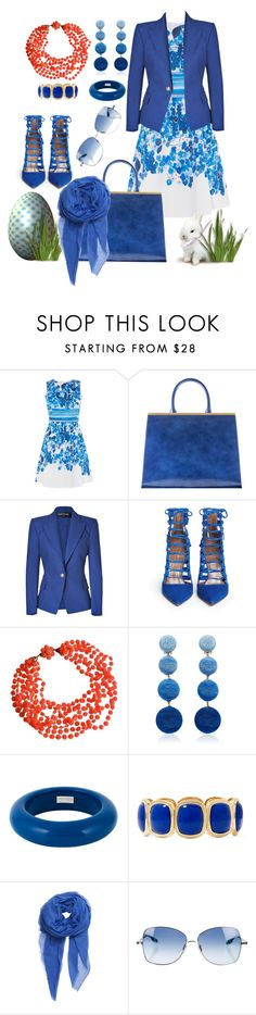 """Easter with BRENDA MACLEOD"" by manueladimauro ❤ liked on Polyvore featuring Karen Millen, Balmain, Aquazzura, Rebecca de Ravenel, Dsquared2, Monet, BeckSöndergaard and Paul Smith"