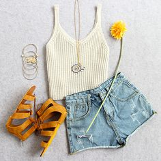 Perfect outfit for hot summer days~