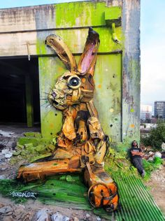 Portuguese street artist Bordalo II (previously... | Archie McPhee's Endless Geyser of AWESOME!