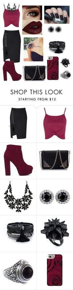 """#163"" by lucieprettyliars ❤ liked on Polyvore featuring Glamorous, Topshop, Eddie Borgo and Casetify"