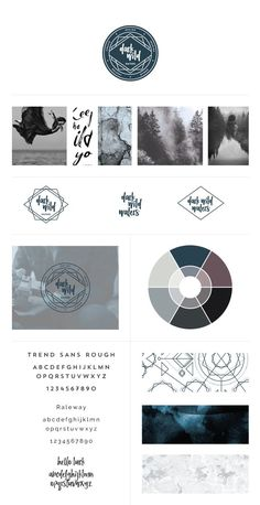 Brand Style Guide for Dark Wild Waters by Freckled Design Studio. Click through to see the full brand reveal!