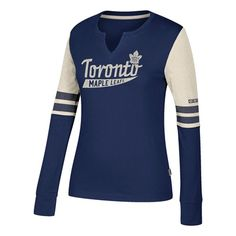 Toronto Maple Leafs CCM Henley Long Sleeve T-Shirt - Womens