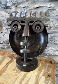 Recycled Metal Sculpture by martiensbekker.co.uk, Scrap Art, Port Isaac, Cornwall
