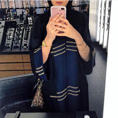 IG: HindAlmadani || IG: BeautiifulinBlack || Abaya Fashion ||