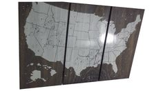 Alaska/Hawaii USA Push Pin Travel Map  Wall Art  by CedarWorkshop