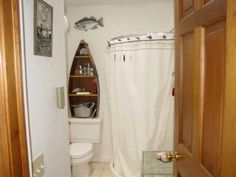 Man Cave Fishing Bathroom In Bat Floor Tile That Looks Like Water Raised Dock Around Outside Walls Old Barn House Siding Tin Off R