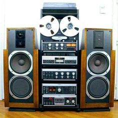 """vintageaudiolove: """"Full Revox Set Up 👌 """" Radios, Hi Fi System, Diy Speakers, Audio Room, Stereo Amplifier, Audio Sound, Music System, High End Audio, Music Images"""