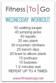 Wednesday Workout - Fitness To Go Fitness Diet, Fitness Motivation, Health Fitness, Gym Workouts, At Home Workouts, Workout Routines, Wednesday Workout, Sweat It Out, Yoga