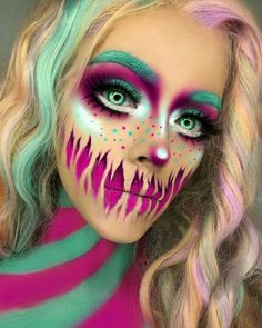 Halloween Make up Idea Clown Makeup, Scary Makeup, Costume Makeup, Ghost Makeup, Voodoo Doll Makeup, Horror Makeup, Zombie Makeup, Amazing Halloween Makeup, Halloween Makeup Looks