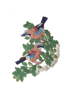 Janet Browne Textiles - Garden birds
