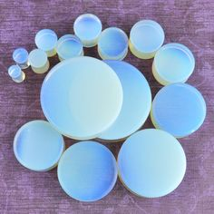 Opalite Plugs opalized glass – Arctic Buffalo
