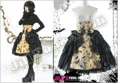 Goth Visual Medieval Baroque Madam Papillon High Rise Cake Skirt LQ028 Y | eBay