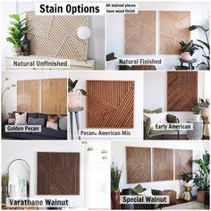 Art géométrique de bois art géométrique de mur art de mur en | Etsy