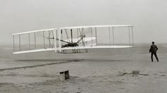 The first sustained and controlled, heavier-than-air, powered flight took place at 10:35 am at Kittyhawk, North...