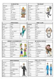 English worksheet: VERB TO BE: PERSONAL INFORMATION (SPEAKING CARDS) 3