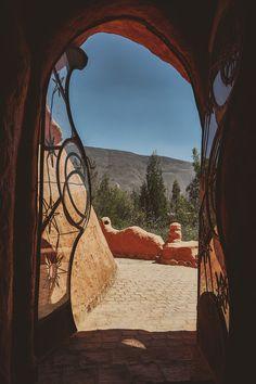 Doorway in Casa Terracota in Villa de Leyva, Colombia.