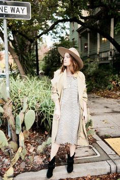 trench + classic stripes