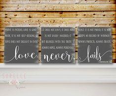Love is Patient Love is Kind Love Never Fails by SorellebyJenn