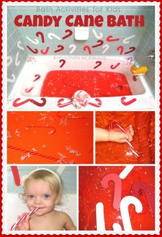 Tis the season for candy canes!  Candy cane bath with painting, decorating, and more!