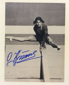 olga korbut 1972 and 1976 olympic gold medal winning gymnast signed