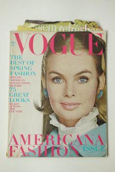 Vintage Vogue Magazine February Feb 1 1968 by NuonoVintage on Etsy