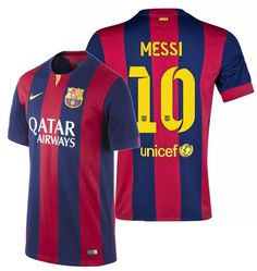 6fdf022a9 Nike lionel messi fc barcelona home jersey 2014 15 intel logo