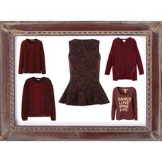 """Burgundy tops"" by clothes-cm on Polyvore"
